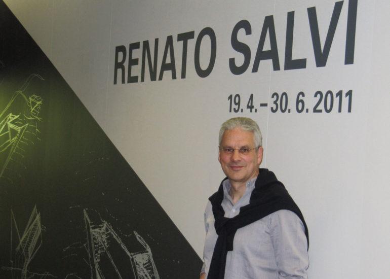 Exposition ETHZ GTA, entrée de l'exposition avec Renato Salvi